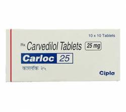 Carloc 25 mg (10 pills)