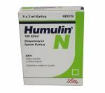 Humulin N 100 iu (5 cartridges)