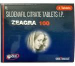 Zeagra 100 mg (4 pills)
